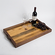 Chappellet Crate Tray with Walnut Sides