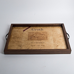 Tray, GROTH, Golden Oak, Walnut Sides, California