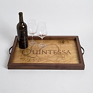 Quintessa Crate Tray with Walnut Sides