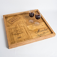 Wine Crate Coffee Table Tray