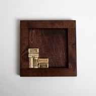 Red Mahogany Wine Cork Trivet Kit