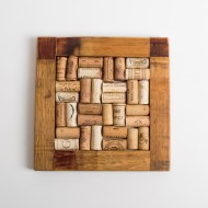 Small Natural Barrel Trivet