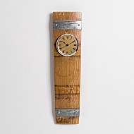 Clock, Natural Stain, Gold Face