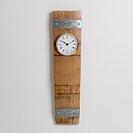 Banded Stave Clock with Gold Bevel