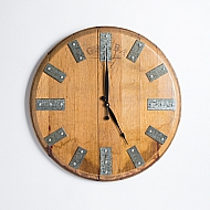Wine Barrel Top Clock