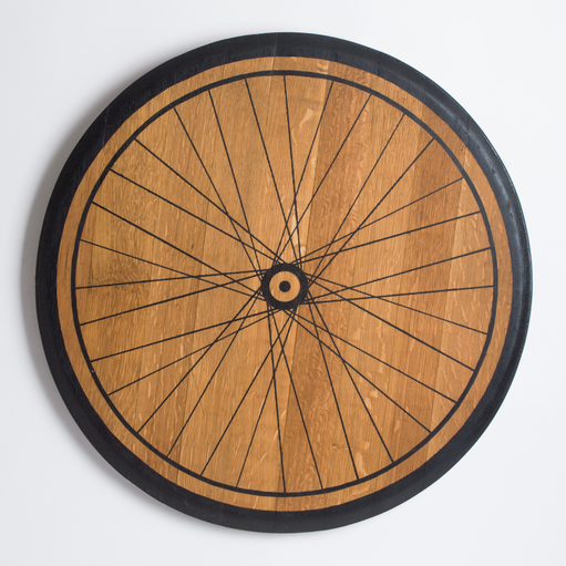 Bike Spoke Barrel Head Wall Decor- LAST ONE!