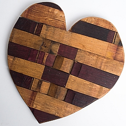 Wine Barrel Stave Heart