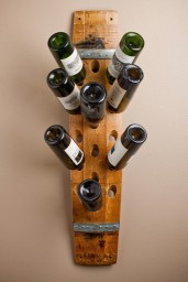 Wall wine rack, 16 bottle, banded