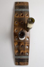 Wall wine rack, 18 bottle, banded