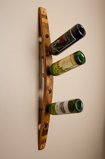 Wall wine rack, 6 bottle