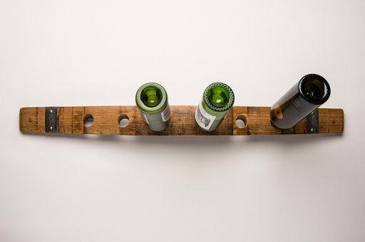 Wall wine rack, horizontal, 6 bottles, banded