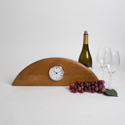 Wine Barrel Desk Clock