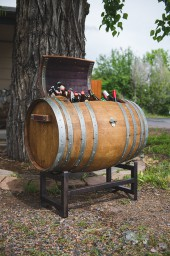 Wine Barrel Ice Chest with Stand