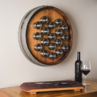 Wine Barrel Spice Rack- 18 Steel Cans