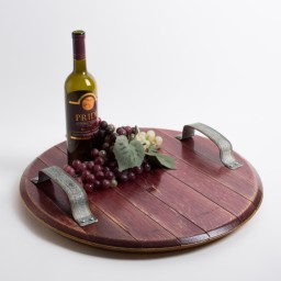 Platter, Wine Infused, Rustic Band Handles