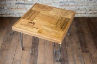 French Wine Lover End Table with Hairpin Legs