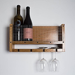 Napa Cork and Glass Display, Natural