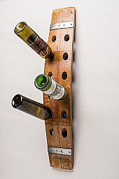 Wall wine rack, 12 bottle, banded