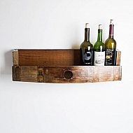 Wine Barrel Bottle Shelf